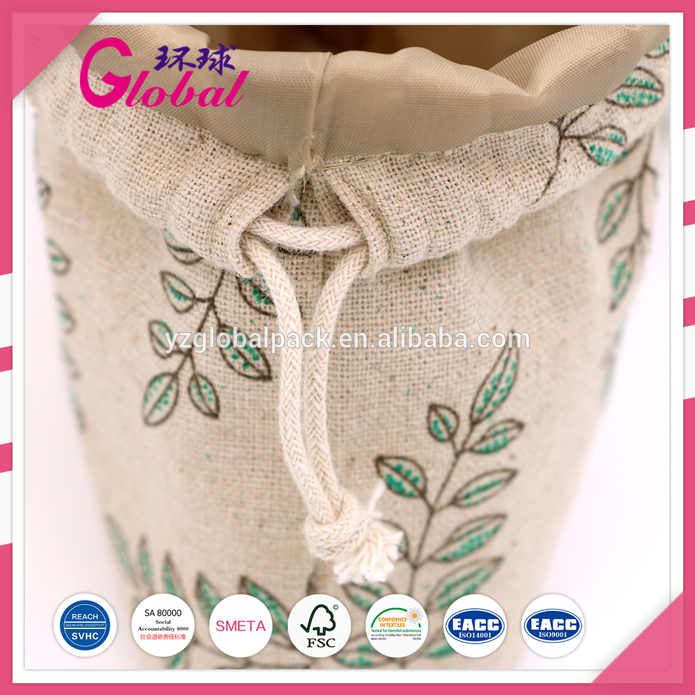 felt jewellry bag with monogram and string