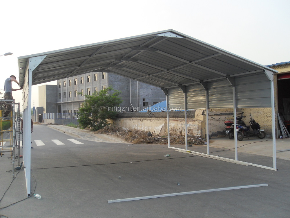 Steel Outdoor Shelters : Galvanized metal car canopy rv shelter buy two
