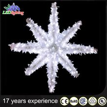 D:60cm white christmas metal star wall hanging