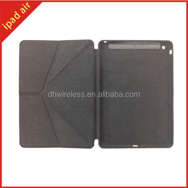 2014 new design product for apple ipad air leather case, for ipad air folded leather cover case