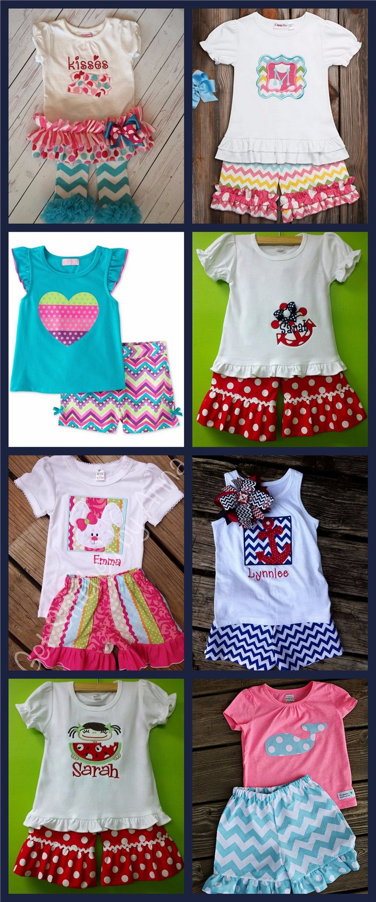 Custom Boutique Child Clothing Kids Summer Dress