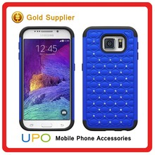 [UPO] Luxury Bling Rhinestone Diamonds Hard Plastic PC+Silicone Cell Phone Case for Samsung Galaxy S6