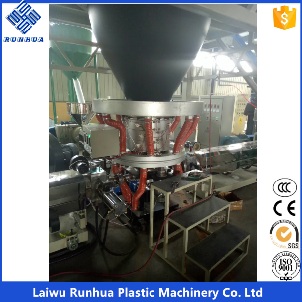 Rotary die head three layer coextrusion ldpe film blowing machine