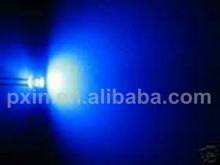 Blue flat head led diode 5mm super bright cheap with 12000-15000mcd