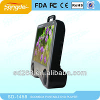 Large screen 17 inch portable dvd player with LED