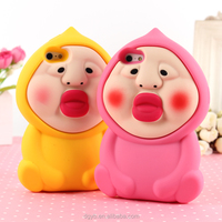 peach boy design silicone phone case mobile from custom case factory