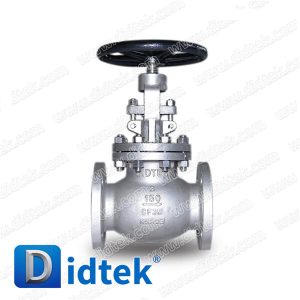 Didtek Rising Stem Bolted Bonnet Stainless Steel Manual Globe Valve