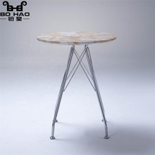 Different size Modern Metal Steel Table MDF Table top with marble <strong>PVC</strong>