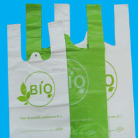 Cheap fruit packaging heavy duty durable plastic t shirt bag