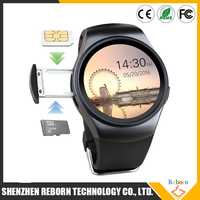 side insert SIM card android IOS mtk2502 KW18 smart phone watch with speaker