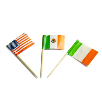 eco-friendly bamboo craft paper flags sticks