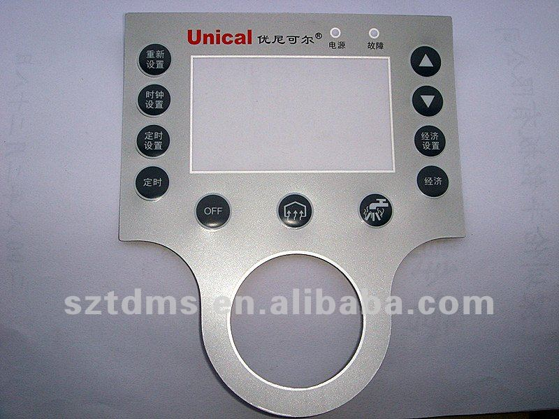 faceplate for membrane keypad