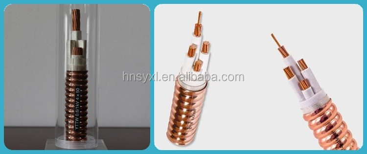 0.6/1kv fire resistant Flexible power cable with Copper sheath