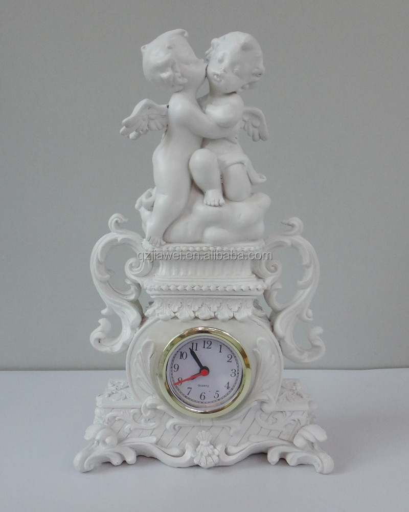 2016 wholesale new design decorative alarm clock with angel embossments
