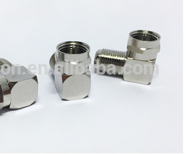 compression Coaxial cable RF RG11 RG6 Waterproof F female to F male crimp right angle coaxial rf connector adaptor
