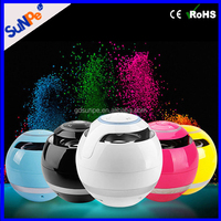 Guangdong Factory Mini Round Ball Table Wireless Bluetooth Lamp Speaker with FM Radio