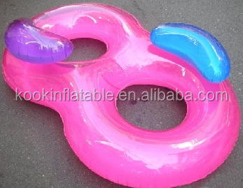 Custom twin double baby swimming ring pool floater