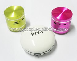 aluminum mini vibrational speaker, lets your table singing
