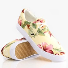 digital printing design your own fashion low Cut Canvas Shoes
