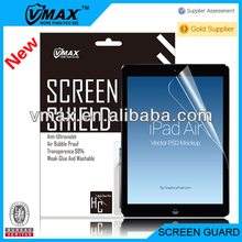 Factory Price Anti-Glare / Matte / Mirror / Diamond screen protector for Apple iPad air (iPad accessory)oem/odm with packing