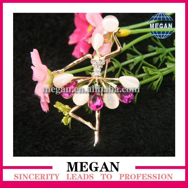ballerina brooch make by Megan apparel co Ltd