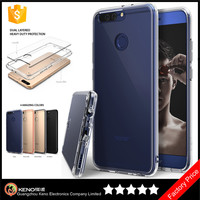 Keno Ultra Slim Hard PC Back Flexible TPU Bumper Thin Transparent Protective Clear Back Cover Case for Huawei Honor 8 Pro / V9