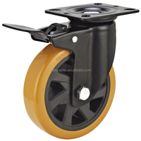 swivel casters with brake cart wheel for suitcases