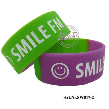 Fashion children 20mm wide silicone bracelet/silicone wristband
