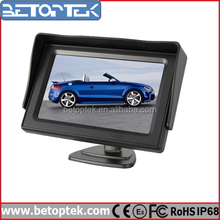 Hot Sale Stand Alone 4.3-inch Car Monitor LCD Monitor with AV Input