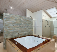 fashion design and factory price cultured marble tub surrounds