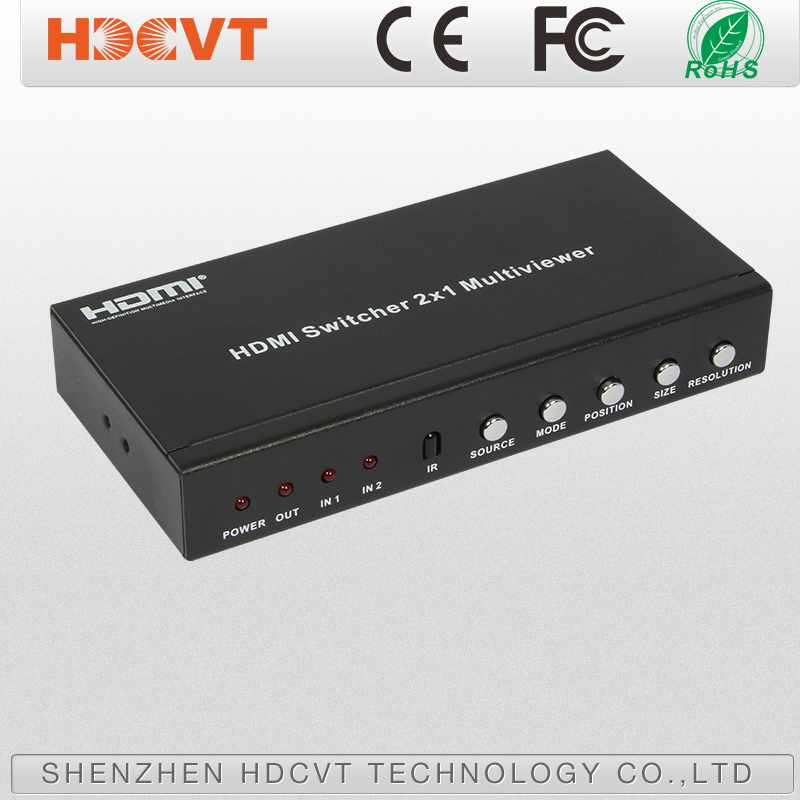 2 in 1 out hdmi switcher support digital audio format