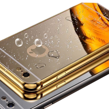 Luxury Electroplate Mirror Back Cover + Metal Aluminum Bumper Frame Case For Sony Xperia Z5/M2/L/S36H/C3/E3/E4G