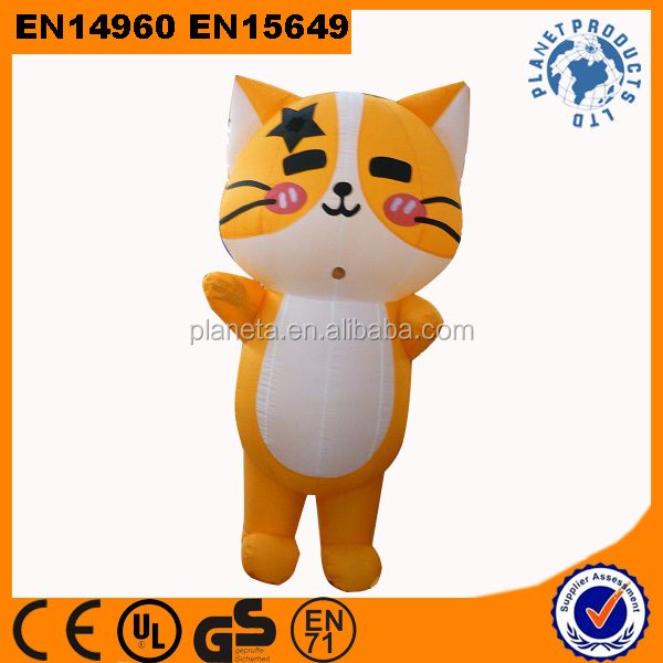 Advertising Cute Inflatable Moving Cartoon, Inflatable Cat Costume