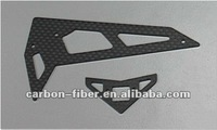 Carbon fiber Vertical / Horizontal stabilizer parts for 450 rc helicopter spare parts