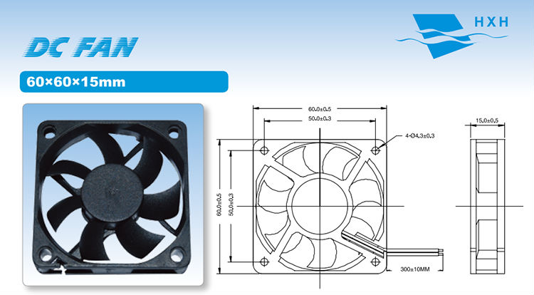 6015 Fireproof 5V 12V Dc Industrial Axial Fan