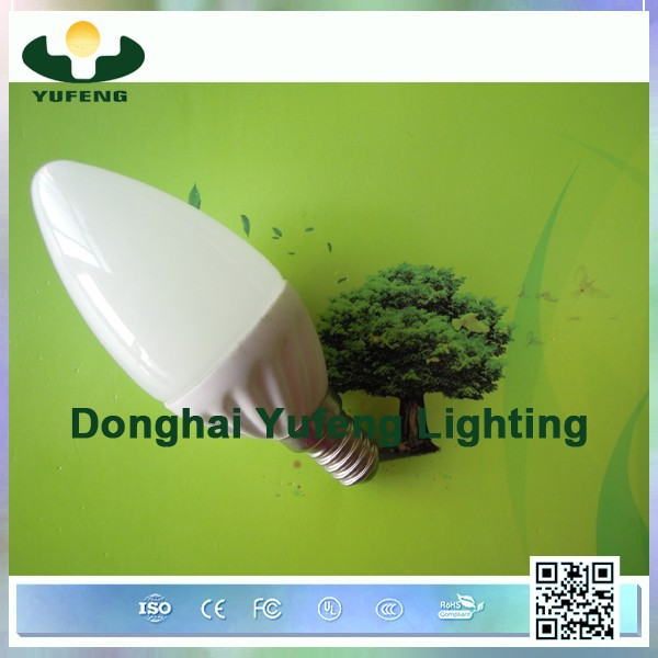 china factory price led bulb e14/e27 high quality 3w candle shape led light bulb