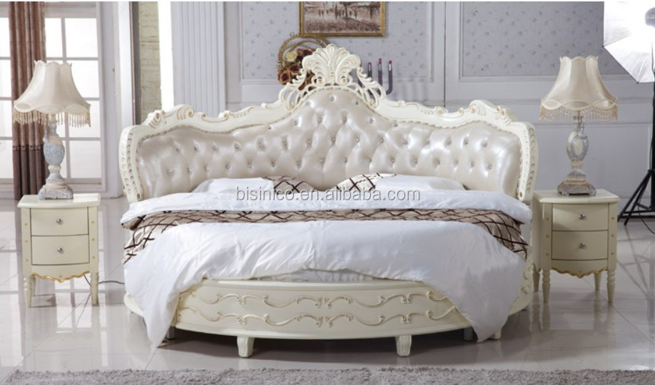 luxury wooden round bed wood double white round bed view
