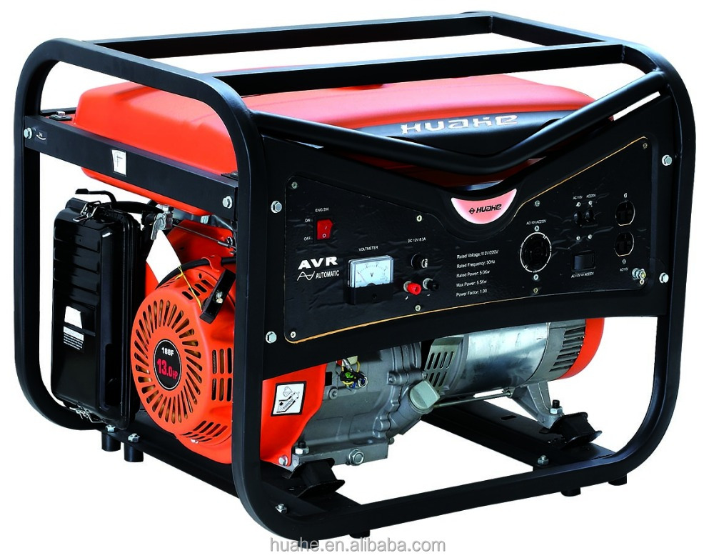 5000W gasoline generator strong square frame 13HP engine huahe factory