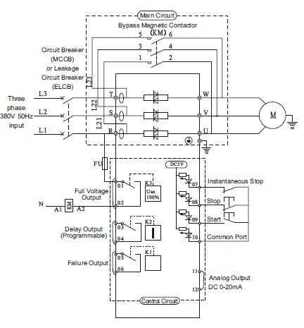 Motor Starting Schemes moreover Integra Starter Wiring Diagram besides Single Phase Motor Capacitor Wiring Diagram besides Plc Wiring Diagrams together with Soft Starter Torque Control System 952138. on soft start motor starter diagram