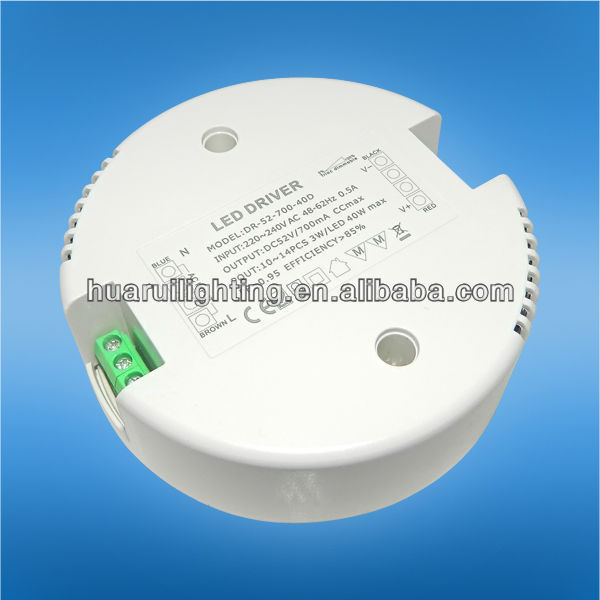 12v Triac Dimmable 42w round led driver led supply for indoor led lighting