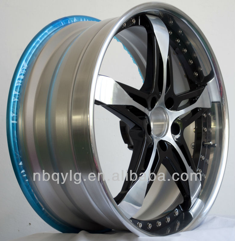 Two Color Finish,After Market Three Piece Forged Wheel