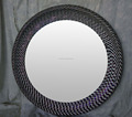 Bisini New Arrival Home Decor Mirror, Arabia Style Glass Mosaic Round Frame Mirrors, Luxury Crystal Decorative Wall Art