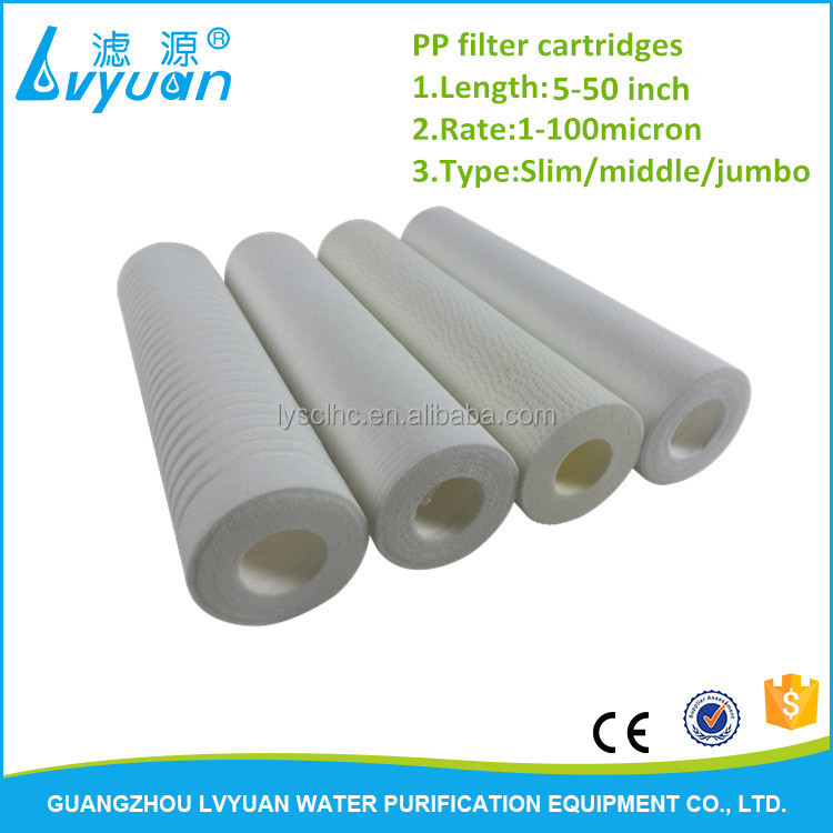 10 inch melt blown pp sediment filter cartridge with 5 micron for domestic water filter