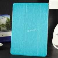 Decent smart cover design folded flip leather case for Ipad air 5