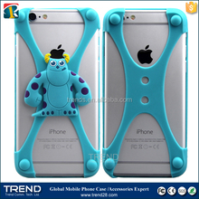 fit for 1~6 inches bear yellow monster universal silicon bumper case for iphone 6