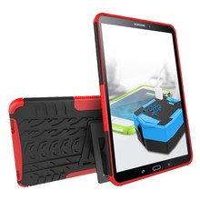 Pvc tablet cover hybrid flip case cover for samsung Tab A 10'' 1 2016/T580 with rotatable clip with best price