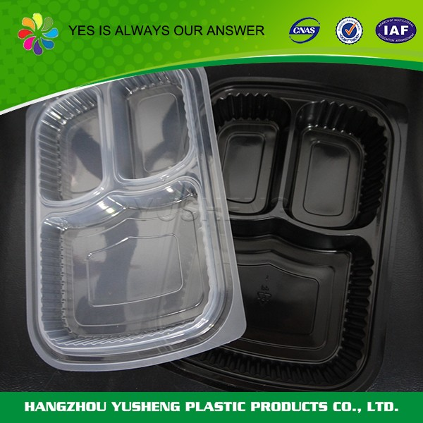 Disposable food container,3 compartment food container