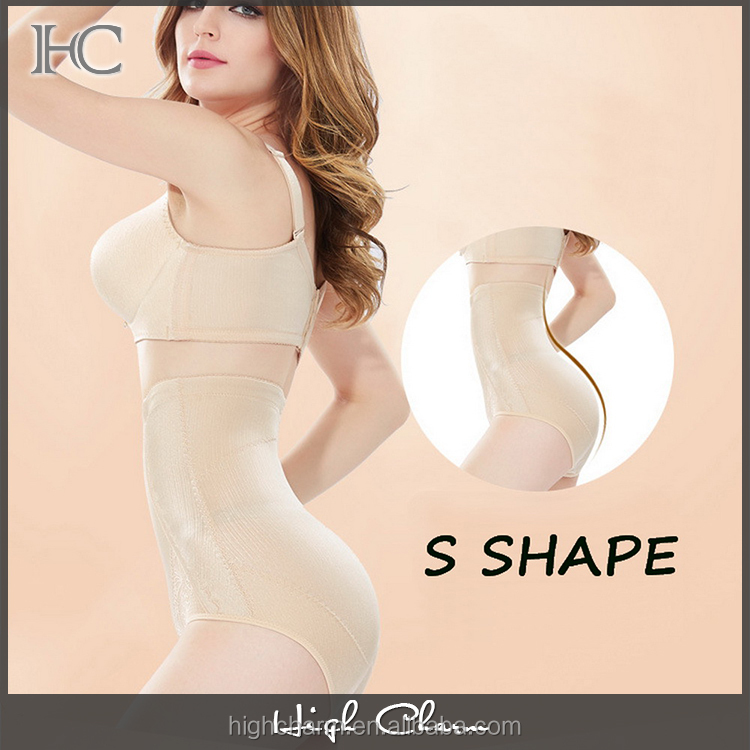 Custom comfort high waist sheer breathable stretchy firm skin girdle stomach control shapewear underwear pant for ladies