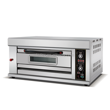 Commercial Low Gas Consumption Stainless steel 1 Decks 2Trays Bread Bakery Gas Baking Oven