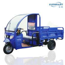 EVERBRIGHT Electric open driving type cargo ce certification motor trike with cab